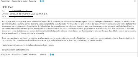 Opinion de Carlos
